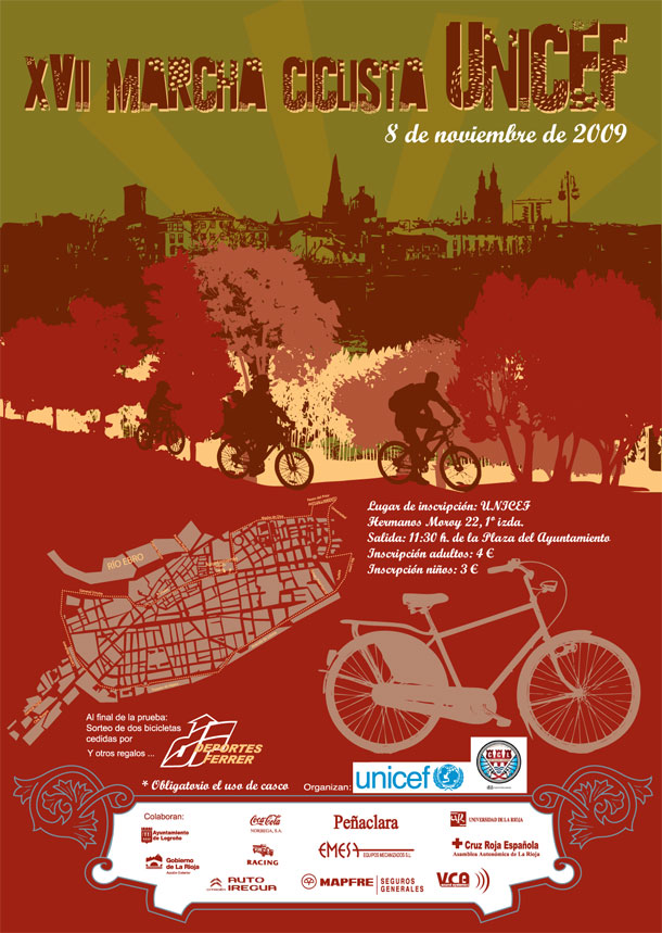 Cartel Marcha Ciclista UNICEF 2009