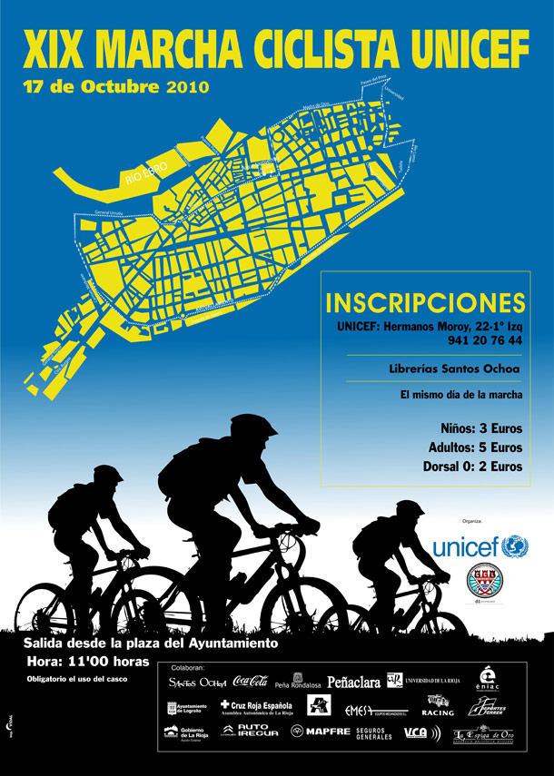 Cartel Marcha Ciclista UNICEF 2010