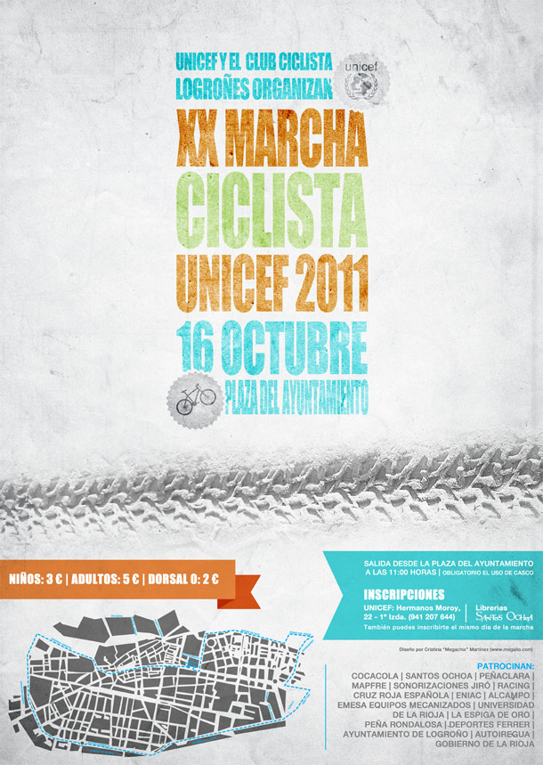 Cartel Marcha Ciclista UNICEF 2011
