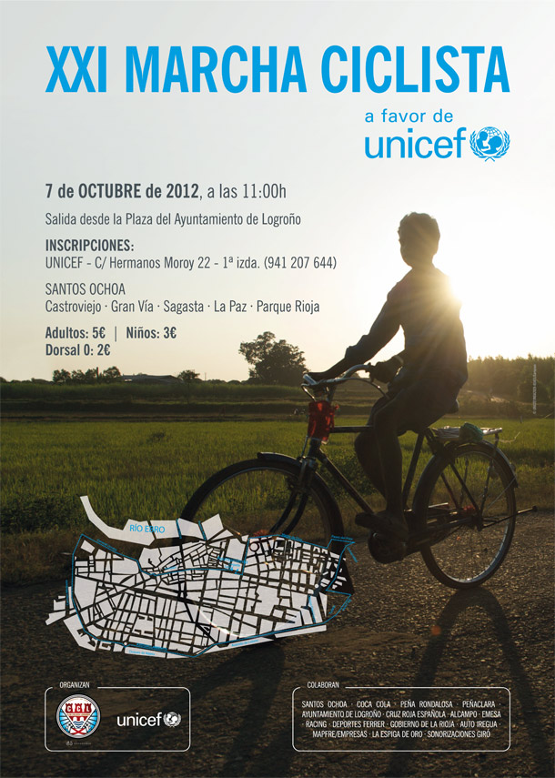 Cartel Marcha Ciclista UNICEF 2012